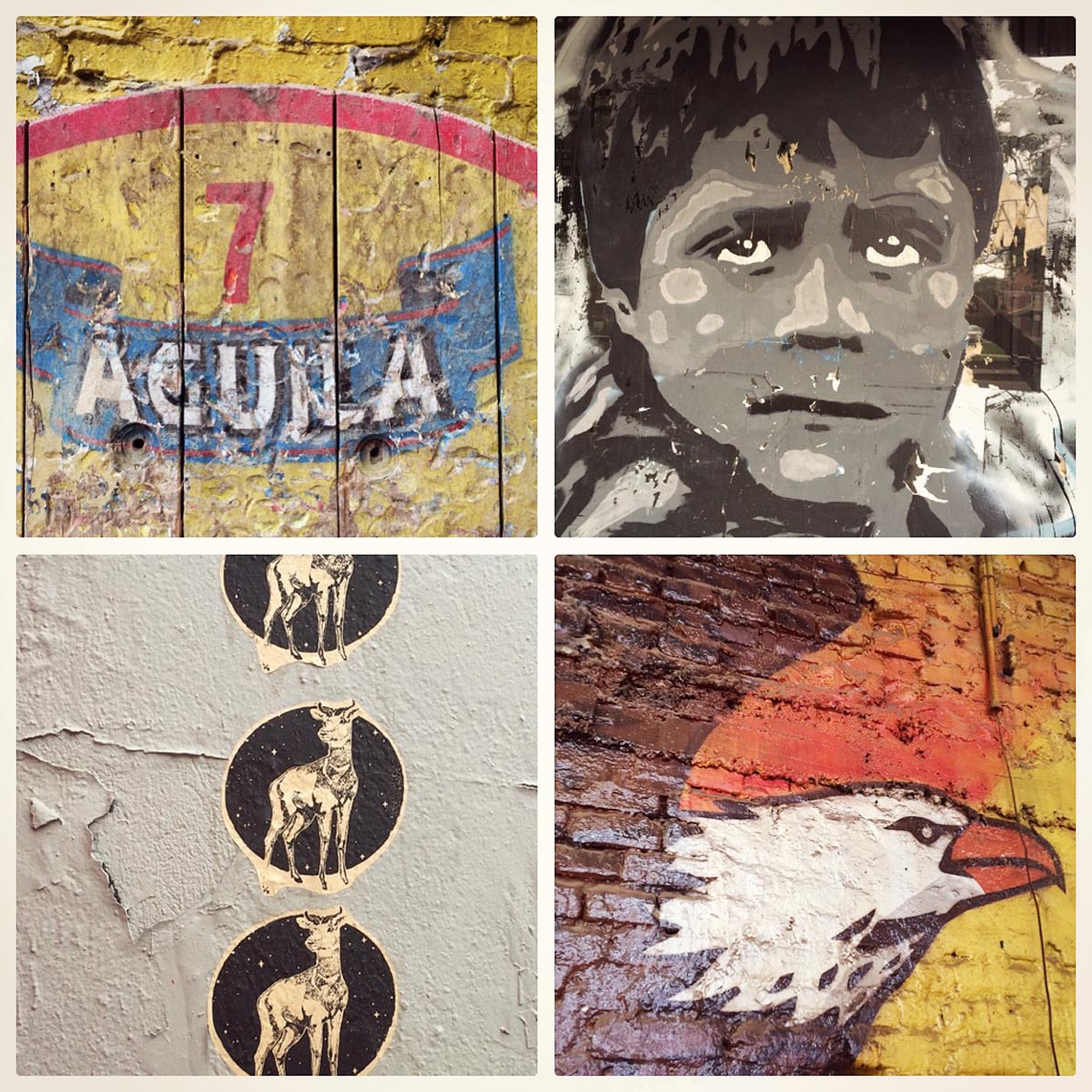 Wall art on the streets of Bogota, Colombia